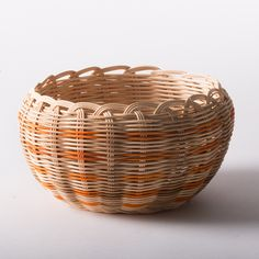 Orange Cherokee Double-wall Basket - Native American Art - National Cowboy Museum