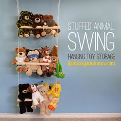DIY hanging toy storage to organize the stuffed animals is part of Kids room organization - DIY hanging toy storage to organize the stuffed animals NurseryOrganization StuffedAnimals Stuffed Animal Storage, Diy Stuffed Animals, Stuffed Toys, Stuffed Animal Hammock, Storing Stuffed Animals, Creative Toy Storage, Diy Storage, Cuddly Toy Storage Ideas, Storage Hacks