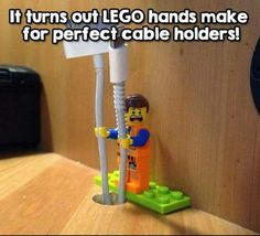 What can you do with Lego's…besides the obvious? You'll see why we are obsessed with these Lego hacks! Simple Life Hacks, Useful Life Hacks, Legos, Deco Lego, Lego Hand, 1000 Lifehacks, Diy Hacks, Cool Hacks, Funny Life Hacks