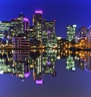 Canary Wharf Reflections  By: Jim Obee