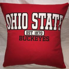 A personal favorite from my Etsy shop https://www.etsy.com/listing/484488616/columbus-ohio-university-t-shirt-pillow