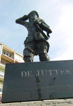 Den Helder, beeld van de Jutter. (Een jutter was vroeger een inwoner van Den Helder)