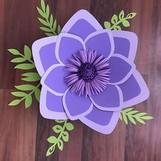 SVG Petal 15 Paper Flower Template with Base DIGITAL