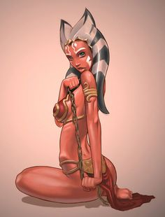 Ahsoka Tano grown up as a Slave Girl.