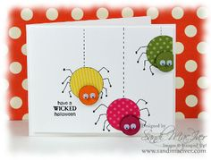 Punched Spiders | Stamping With Sandi - Sandi MacIver, Stampin' Up! Demonstrator