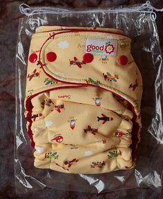 NIP Skypark CV Goodmama Cloth Diaper.  Goodmama diapers are so cute, but they're about $40 apiece.  What?!