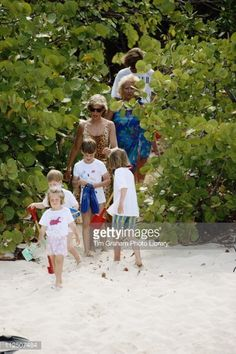 Prince William and Prince Harry with their cousins, their mother,... News Photo   Getty Images