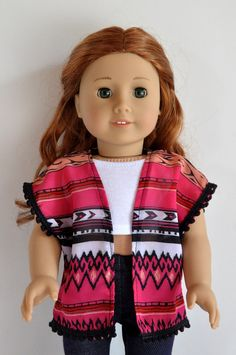 Pink Black White Tribal Aztec Print Pom Pom Trim by CircleCSewing