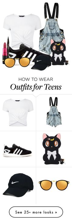 """Untitled #1441"" by penny44224 on Polyvore featuring New Look, adidas, OneTeaspoon, Smith & Cult, MAC Cosmetics, Linda Farrow and Nike Golf"