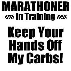 Lol, I feel that way training for any distance!  Chicago 10/12/14!!!