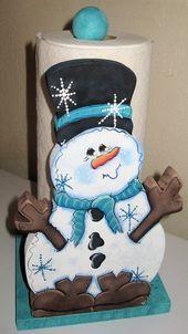 Snowman Paper Towel HolderWinter Towel HoldersPaper by jusbcuz Snowman Decorations, Snowman Crafts, Christmas Decorations, Paper Towel Holder, Towel Holders, Christmas Snowman, Christmas Crafts, Xmas, Wooden Crafts