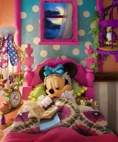 Minnie fast asleep in bed. Cute