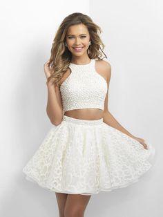 Blush Prom 11154 Cream Homecoming Dress