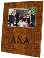 F1937- Lambda Chi Alpha on Mock Crock Picture Frame $46.00 #LambdaChiAlpha #LambdaChi