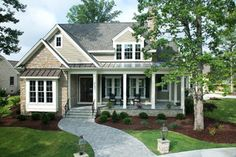 Greenville NC Southern Living Showcase Home front exterior. Greenville NC Builder Tab Premium Built Homes. Southern Living House Plan 1266-Shook Hill
