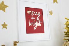Merry + Bright 8x10 Art Print at A Beautiful Mess $20