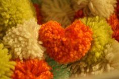 Heart Pom Pom Garland | Weddingbee Photo Gallery