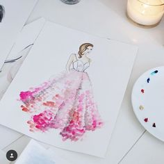 A fabulous @csiriano gown in illustration form. 📷: @jclair24