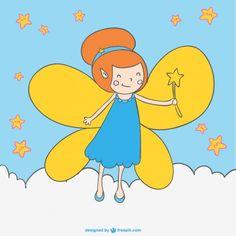 Cartoon fairy magic wand drawing - Freepik.com-Fantasy-pin-7