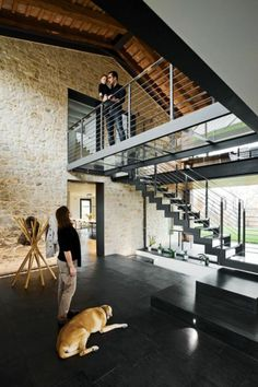 Mezzanine railing good concepts for loft with mezzanine ideas mezzanine rai .Mezzanine railing good concepts for loft with mezzanine ideas mezzanine railingRailing steel Lyon, railing Villefranche Barn Renovation, Loft House, Tiny House, Glass Floor, Loft Design, Design Design, Industrial Interiors, Loft Style, Staircase Design