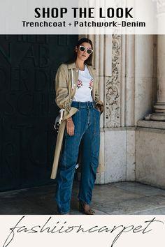Die super coole Baggy Pants von Stella McCartney habe ich im Sale ergattert, genauso wie die Jimmy Choo Lockett Petite Bag Patchwork Denim. Ich kann euch nicht sagen, wie lange dieses Taschenmodell schon auf meiner heimlichen Wunschliste stand. #trenchcoat #denim #jeans #shopping Outfit Jeans, Mom Jeans, Skinny Jeans, Denim Jeans, Jimmy Choo, Stella Mccartney, Baggy Pants, Denim Patchwork, Trends