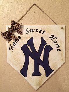 New York Yankees home plate sign New York Yankees by WandNDesigns