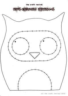 Owl Pincushion Template                                                                                                                                                      Mais