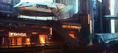 Cyberpunk Atmosphere, Future, Futuristic, Science Fiction, citadel main street by ~epson361 on deviantART