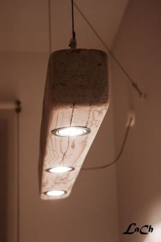 Easy wooden lights.