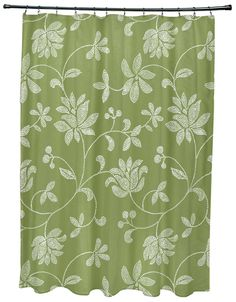 Botanical Blooms Traditional Floral Print Shower Curtain