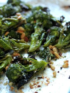 Parmesan Roasted Broccoli... Channeling-Contessa-Roasted-Broccoli-3... Delishious ... Didn't need to add EVOO after roasting.