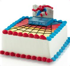 Baskin-Robbins | Spiderman Cake ordering this for Sam's birthday.   Will not attempt to do this myself.  :)