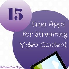 So fun! CHECK OUT these 15 free apps for streaming video content. With science videos, social studies videos, math videos, and videos for ELA too!