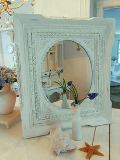 beach cottage furniture | Mirror shabby chic furniture beach cottage by backporchco on Etsy, $ ...