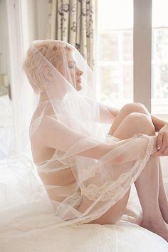 boudoir with veil