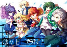 Akane, Aoto, Ginji, Hikari, Midori y Yukari ~ Divine Gate (Acción, Fantasía, Sci-Fi, Anime Invierno 2016)