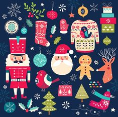 Find Christmas Collection Vector Illustration Christmas Symbols stock images in HD and millions of other royalty-free stock photos, illustrations and vectors in the Shutterstock collection. Thousands of new, high-quality pictures added every day. Christmas Frames, Noel Christmas, Merry Christmas And Happy New Year, Christmas Design, Winter Christmas, Christmas Cards, Christmas Patterns, Nutcracker Image, Nutcracker Christmas