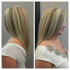 Full blonde highlights and lowlights
