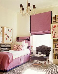 Dusty Pink Bedroom with black accents