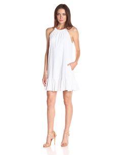 Splendid Women's Dover Clip Dot Dress, White, Large