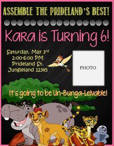 Disney's The Lion Guard Birthday Invitation by SGInvitations on Etsy