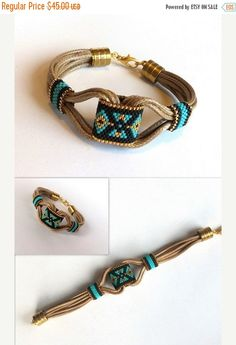 FEATURES OF THE ITEM: The bracelet is boho style. The bracelet is useful and beautiful. The bracelet with peyote technical tribal pattern.
