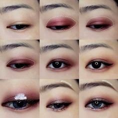 Korean makeup tutorials - Beauty advice may help for beginners to obtain comfortable and ultimately craft their very own beauty regimen. The subsequent article will reveal need to start your new beauty routine today. Korean Makeup Look, Korean Makeup Tips, Asian Eye Makeup, Korean Makeup Tutorials, Korean Makeup Tutorial Natural, Natural Makeup, Natural Beauty, Makeup Trends, Makeup Inspo