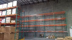 California warehouse installation with seismically engineered FlexRack® pallet rack from Next Level. Storage Solutions, Warehouse, Pallet, California, Wood, Shed Base, Shed Storage Solutions, Woodwind Instrument, Palette