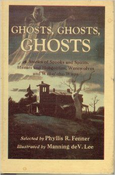 http://www.amazon.com/Ghosts, Ghosts, Ghosts/by Phyllis R. Fenner - illustrated by Manning deV. Lee.......This was my ABSOLUTE FAVORITE book when I was a kid! I would check it out of the library as often as they would let me!
