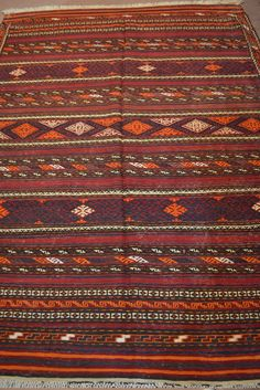Beautiful Aimaq kilim tribal kilim.