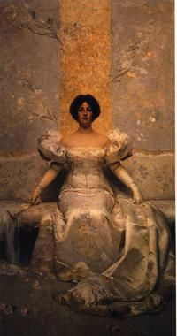 Giacomo Grosso: La femme 1895, olio su tela, cm 295 x 160. Asti, Museo Civico e Pinacoteca