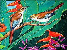 Risultati immagini per tropical forest painting