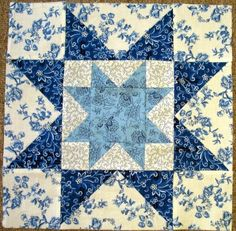 May 2014 2nd Sat. Alternate Blue & White Block - Little Quilts