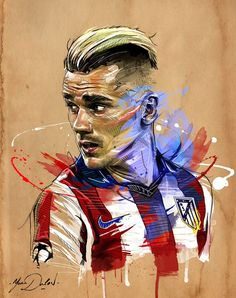 Antoine Griezmann – Atlético Madrid – ❼ – jamie – Join the world of pin Antoine Griezmann, Art Football, Soccer Art, Soccer Sports, Neymar Football, Madrid Football, Football Design, Soccer Drawing, Messi Drawing
